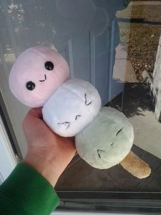 Minky Dango Plushie MADE TO ORDER by LoveWho on Etsy, $25.00