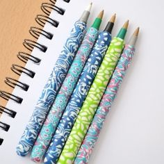 Make these lovely pens. Detailed tutorial #craftgawker