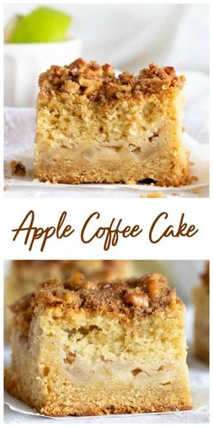 This is a super amazing apple coffee cake recipe, with a crunchy crumble topping full of walnuts and cinnamon. You can make the topping ahead of time. Apple Cake Recipes, Cupcake Recipes, Cupcake Cakes, Dessert Recipes, Desserts, Cupcakes, Apple Cakes, Chef Recipes, Fall Recipes