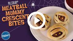 How to Make Pillsbury Meatball Mummy Crescent Bites