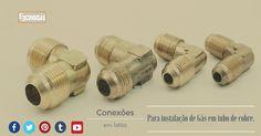 #consigaspecas - Conexões em Latão para instalação de gás em tudo de cobre.