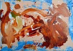 "Saatchi Art Artist Geoffrey Howard; Painting, ""Abstract Painting: Blue Brown Pink"" #art"
