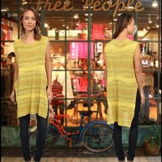 NWT Free People Always Sunny Days Tunic Brand new with tags Free People Always Sunny Days knit sweater tunic top. Color lemon combo. Size XS, but can fit up to a medium. Free People Tops Tunics