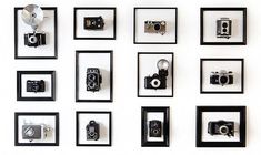 Camerakunstwerk van Jurg Roessen This. Antique Cameras, Vintage Cameras, Vintage Camera Decor, Labo Photo, Photo 3d, Apartment Therapy, Vintage Room, Mo S, Inspiration Wall