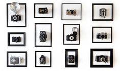 Camerakunstwerk van Jurg Roessen This. Antique Cameras, Vintage Cameras, Vintage Camera Decor, Labo Photo, Apartment Therapy, Photo 3d, Art Decor, Room Decor, Inspiration Wall