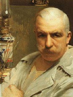 """Vittorio Matteo Corcos (1859-1933) """"Autoritratto"""" 1913 Livorno, Museo Giovanni Fattori"""