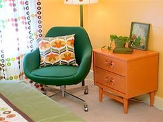 Bedroom : Page 05 : Archive : Home & Garden Television Retro Room, Indian Home Decor, Nyc Rooms, Inexpensive Home Decor, Home Decor, Bedroom Inspirations, Bedroom Decor, 70s Home Decor, Country House Decor