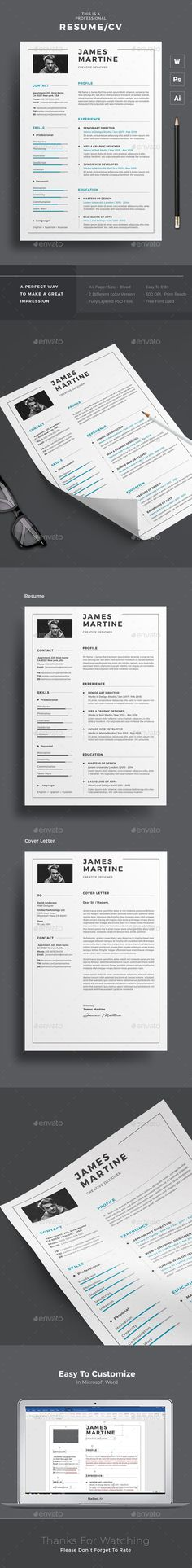 Buy Resume by themedevisers on GraphicRiver. Infographic Resume Word Template / CV Template with super clean and modern look. Clean Resume Template page designs . College Resume Template, Modern Resume Template, Creative Resume Templates, Cv Template, Layout Design, Cv Design, Resume Words Skills, Infographic Resume, Creative Infographic