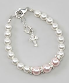 Loving this Crystal Dream Sterling Silver & Pearl Bracelet With Crystals from SWAROVSKI on #zulily! #zulilyfinds