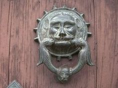 A custom door knocker is a simple project when casting aluminum with plaster molds.