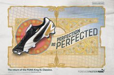 Pro-Direct Soccer - PUMA King SL, Black, White, Gold, Football Boot.