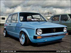 Blue Mk1 VW Golf on BBS wheels | Flickr - Photo Sharing!