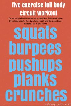 Full body circuit workout More Circuit Workouts, Workout Roundup, Divas Workout, Random Workout, Exercise Full, Body Workout, Home Workouts, Exercise Workout, Bodyweight Workout five exercise full body circuit workout Workout Roundup: Home Workouts Targeting the Entire Body