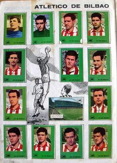 Athletic Bilbao stickers in the late Athletic Clubs, Football Team, Soccer, Polaroid Film, Baseball Cards, Chocolates, 1950s, Spanish, Stickers