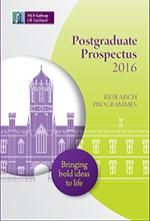 University prospectus cover for Exhibitor prospectus template
