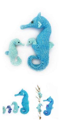 Amigurumi Seahorse Free Pattern – Free Amigurumi Patterns You are in the right place about knittings Crochet Diy, Crochet Patterns Amigurumi, Crochet Gifts, Crochet Dolls, Crochet Sea Creatures, Crochet Animals, Dragon En Crochet, Crochet Fish Patterns, Crochet Mignon
