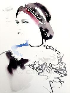 Watercolor Illustration. Fashion Illustration. Sketch book