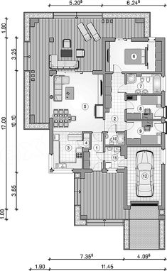 Beautiful House Plans, Dream House Plans, Beautiful Homes, Garage House, House 2, Bungalow, 2 Bedroom House Plans, Tuscan House, Home Projects