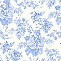 Gran Deco Bouquet Wallpaper - Teal