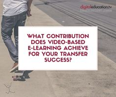 What contribution does #videobased #elearning achieve for your #transfer #success? — digitaleducation.tv - einfach.effizient.lernen mit videobasierten E-Learnings in SCORM E Learning, Success, Skills To Learn, Training Programs, Videos, Business, Further Education, Simple, Workout Programs