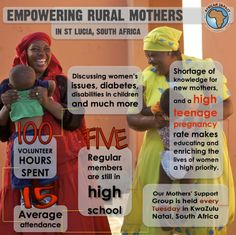 Empowering rural mothers and other at-risk communities is an integral component to our programs across Africa! Here's information from our support group for mothers in St Lucia, South Africa.