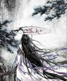 Waterfall, by Chinese illustrator Ibuki Satsuki 伊吹五月