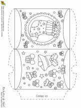 Pochette de Noël, chaussette et petites cloches