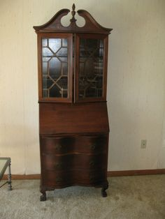 Tall Mahogany Antique Secretary Desk