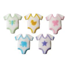 Baby Onepiece Assorted Cake Decorations - Sweetology