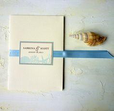 Seaside wedding invitations