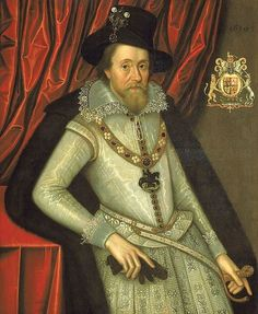 King James I, 1610, portrait by John de Critz