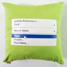 A Pillow For Geeks