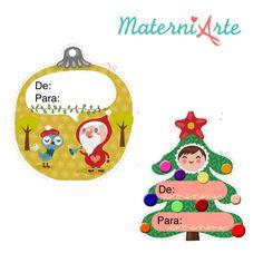 Etiquetas e Carta Papai Noel para impressão
