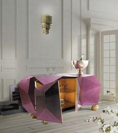 THE AMAZING DIAMONS SIDEBOARD BY BOCA DO LOBO | The amazing Diamond Sideboard| www.bocadolobo.com/ #inspirationideas #luxuryfurniture #interiordesign