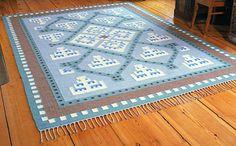 Woven carpet by Eemil Halonen, Finland, 1920's. Through AnnaQ