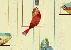 Birds / Lotta Nieminen - Thanks again #MintDesignBlog for making my inbox interesting!