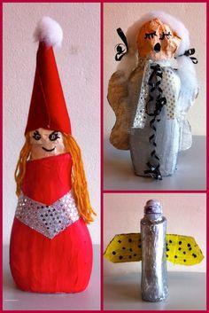 """Meet The Creative Part of Me : """"Genbrugsengle og nisser"""" skabt af 4. årgang."""