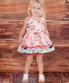 This Peach Belezza A-Line Dress & Bloomers - Infant by Jelly the Pug is perfect! #zulilyfinds
