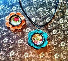 Crochet Flower Necklace Flower Craft Idea Designed by Jenny Newman