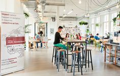 Redesigning the co-working spaces of Impact Hub West - AKKA Architects Office Hub, Office Fit Out, Transformation Church, Amsterdam Cafe, Glass Office, Innovation Centre, Creative Hub, Community Space, Lokal