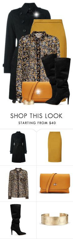 """Wear it in Black and Yellow!~ December Begins!"" by colierollers ❤ liked on Polyvore featuring Burberry, L.K.Bennett, Ganni, Topshop, Gianvito Rossi, Kate Spade and Blue Nile"
