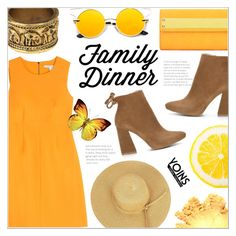 """Family Dinner ~ Yoins #12"" by alexandrazeres ❤ liked on Polyvore featuring Diane Von Furstenberg, yellow, familydinner, yoins, yoinscollection and loveyoins"