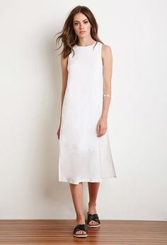 FOREVER 21 Side-Slit Midi Dress