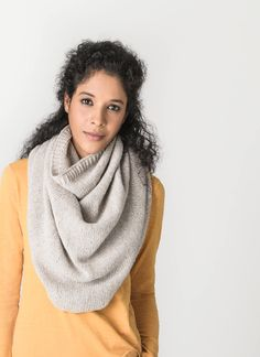 This versatile knit can be styled as a cowl or capelet. Whether you're dressing up or wearing it casually, this exceptionally soft piece is sure to become a favorite. [Princeton Capelet in Eco-Cashmere] Wrap Pattern, Pattern Design, Free Pattern Download, Blue Sky Fibers, Capelet, Knitting For Beginners, Sophisticated Style, Neck Warmer, Scarf Wrap