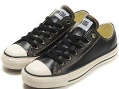 If I were to wear black sneakers, I think it would be these- All Star Premium Leather Ox