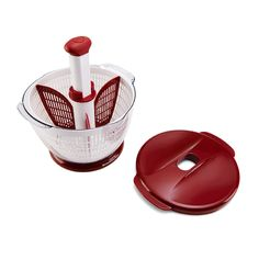 Amazon.com: Kitchenaid Classic Plastic Salad Spinner, Red: Red Kitchenaid Gadgets: Kitchen & Dining