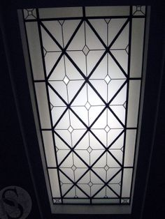 A hand crafted leaded glass flat lens made and installed by the Solarium Design… Floor Ceiling, Glass Ceiling, Glass Roof, Glass Domes, Leaded Glass, Stained Glass Windows, Skylight Glass, Library Bar, Lobby Design