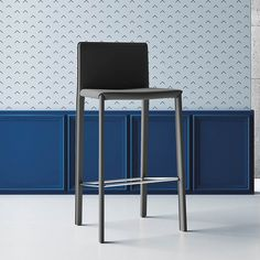 Modern leather barstool/kitchen stool 'Manila'