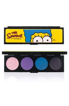 Pin for Later: D'oh! See the Entire MAC and Simpsons Makeup Collection Marge's Extra Ingredients Eye Shadow Quad ($44) From left : Harpooned Heart, Sexy PB&J, Beehive Blue, Vivacious Vacuum Cleaner Bag