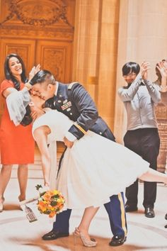 San Francisco Courthouse Wedding, Military